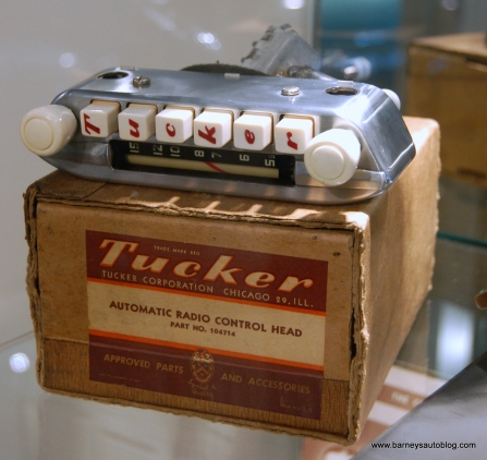 The Tucker's radio was pre-sold to reserve the car for prospective buyers.