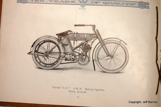 The motorcycle as featured in the original sales catalog.