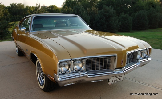 Beasley wanted a Cutlass like he had in college, but a high-school friend had a triple-gold (exterior/top/interior) version that he always wanted and that's the color the restoration took.