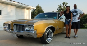 "Beasley and his daughter took the car to Des Moines for the 2012 Oldsmobile Nationals and won first place among 1970 Olds Cutlasses and the next day won ""Best of Class."""