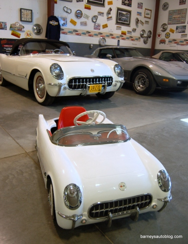 "Janssen's car was used as the template for a limited edition pedal car produced in 2001. ""Their intent was to sell them for the 50th anniversary in 2003, priced at $1,500 each,"" he said. ""They made a thousand of them and didn't sell more than 150."" Janssen bought two."